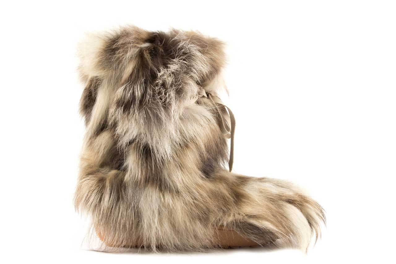 Śniegowce oscar baffy-short iceburg, beż, futro naturalne 5