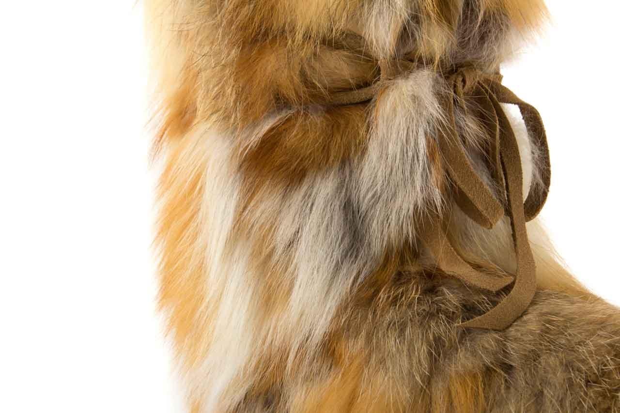 Śniegowce oscar baffy-short red, brąz/rudy, futro naturalne - oscar - nasze marki 10