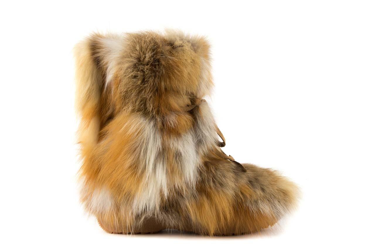 Śniegowce oscar baffy-short red, brąz/rudy, futro naturalne - oscar - nasze marki 6
