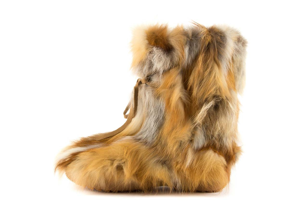 Śniegowce oscar baffy-short red, brąz/rudy, futro naturalne - oscar - nasze marki 8