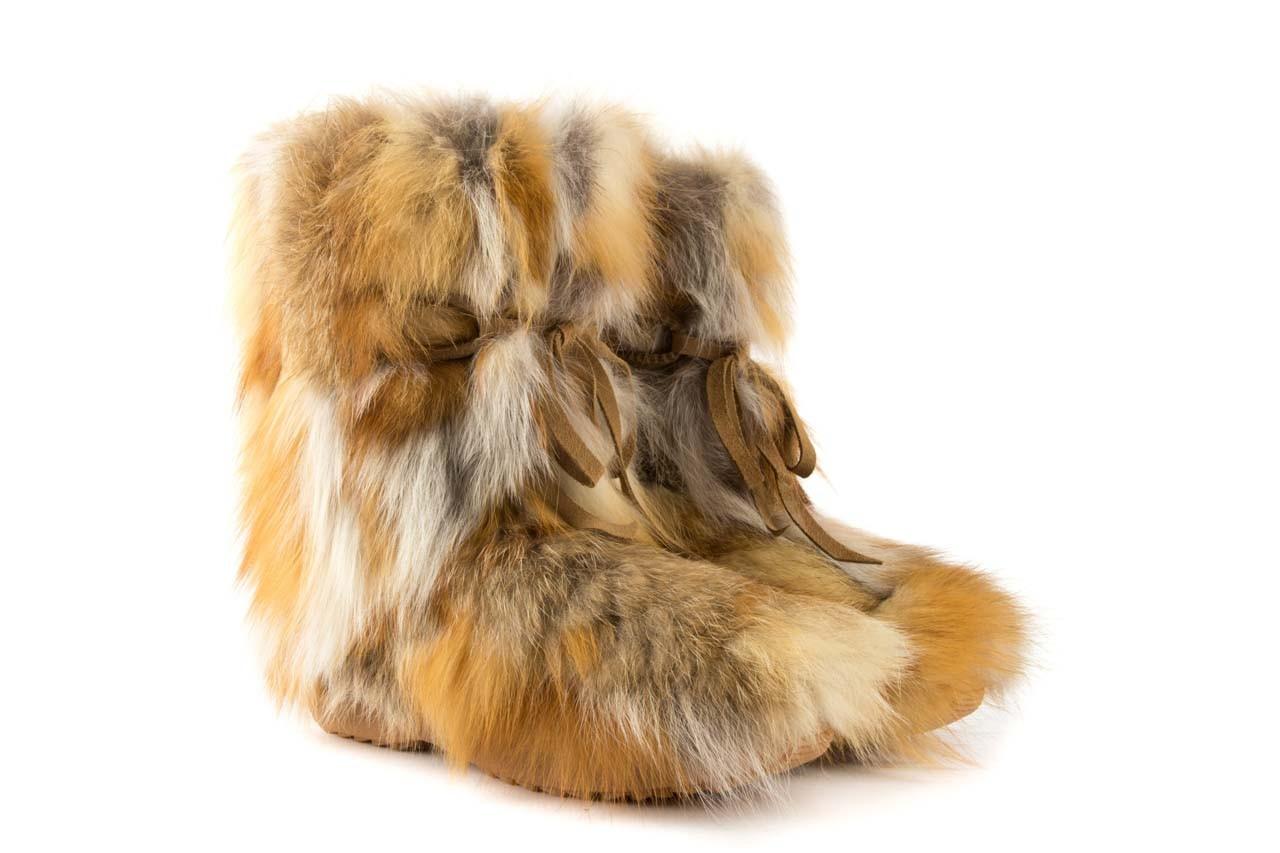 Śniegowce oscar baffy-short red, brąz/rudy, futro naturalne - oscar - nasze marki 7