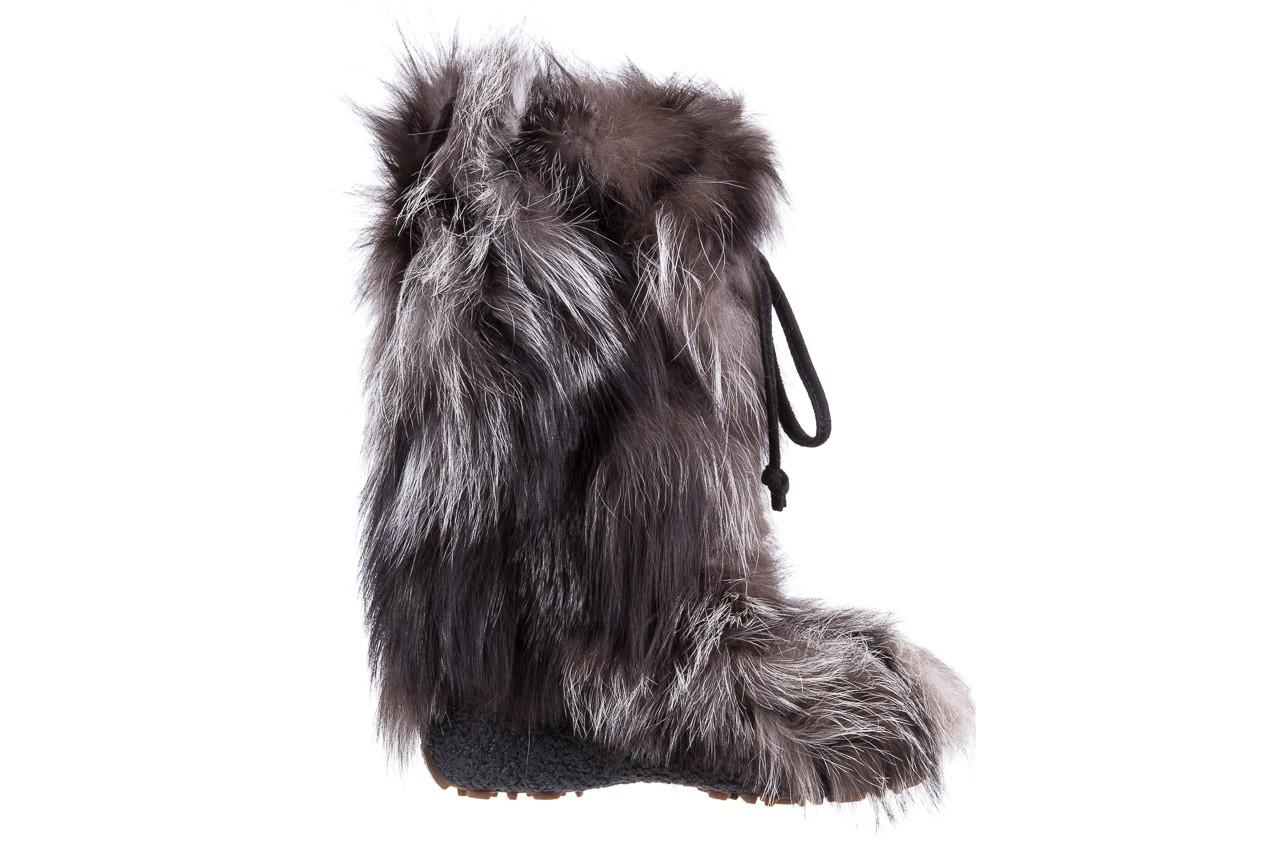 Śniegowce oscar baffy v silver, szary, futro naturalne - oscar - nasze marki 5