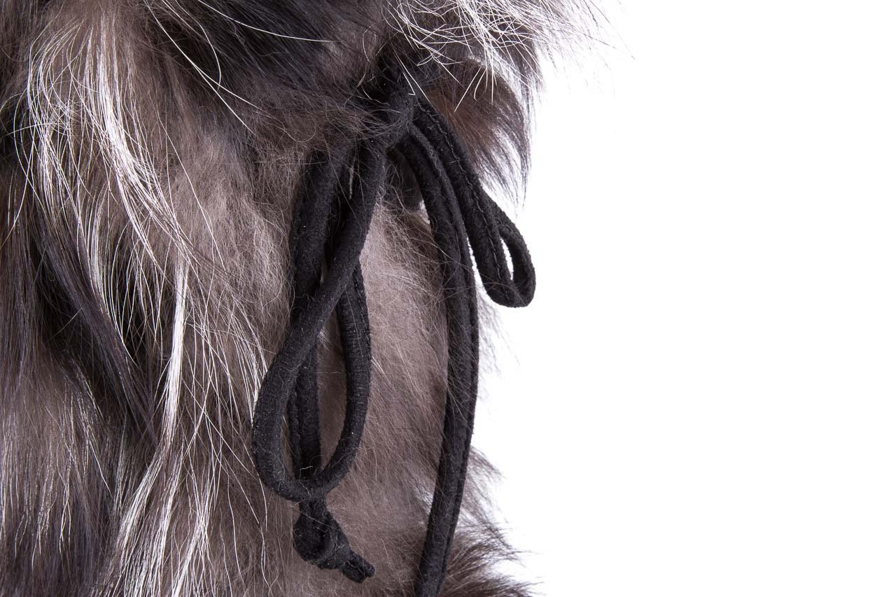 Śniegowce oscar baffy v silver, szary, futro naturalne - oscar - nasze marki 9
