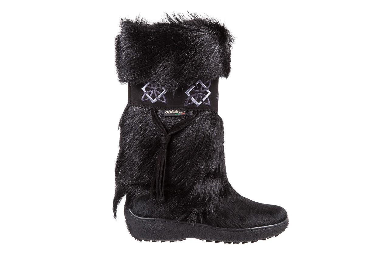 Śniegowce oscar nevada black ,czarny, futro naturalne  - oscar - nasze marki 6