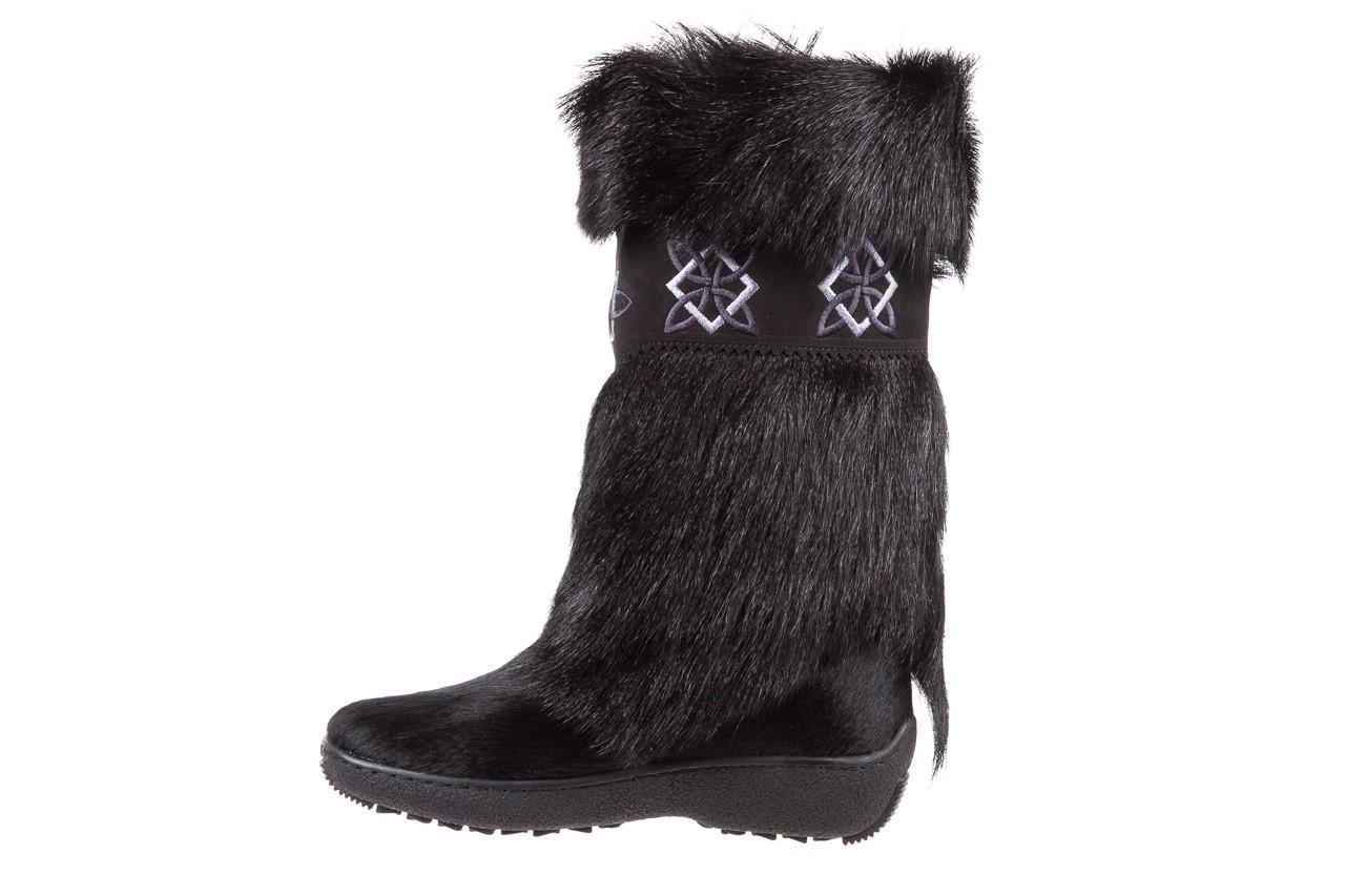 Śniegowce oscar nevada black ,czarny, futro naturalne  - oscar - nasze marki 8