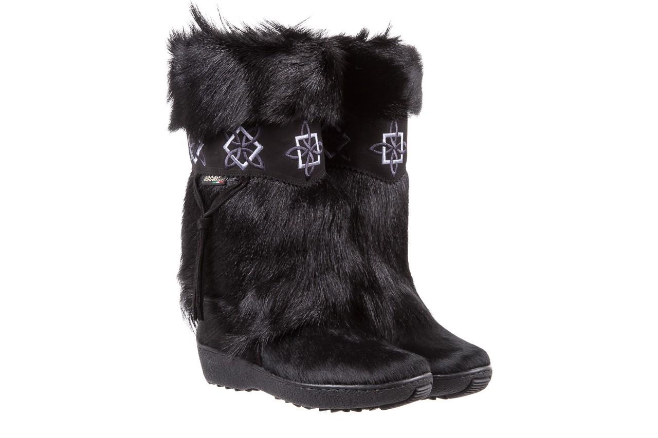 Śniegowce oscar nevada black ,czarny, futro naturalne  - oscar - nasze marki 7