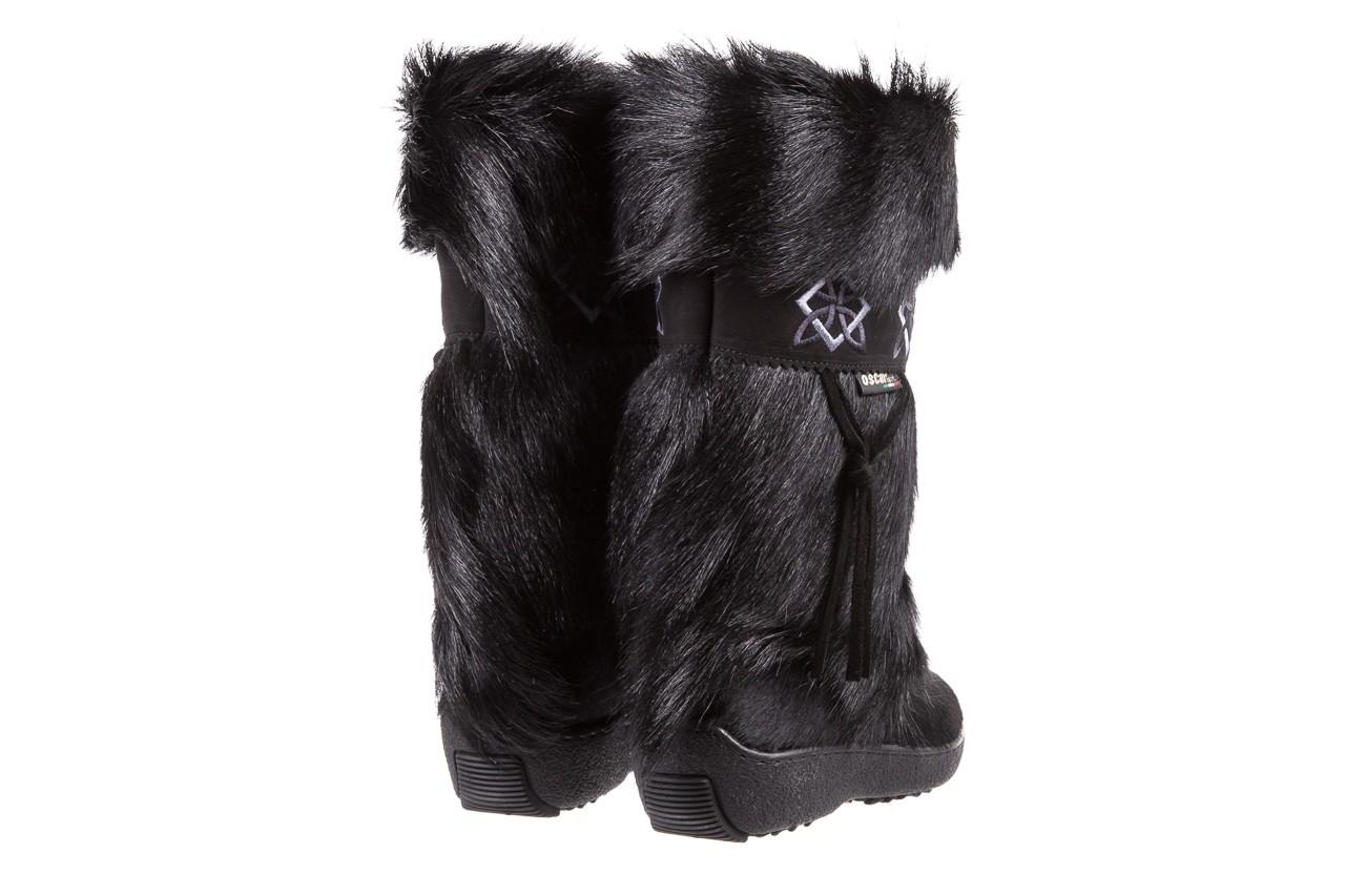 Śniegowce oscar nevada black ,czarny, futro naturalne  - oscar - nasze marki 9