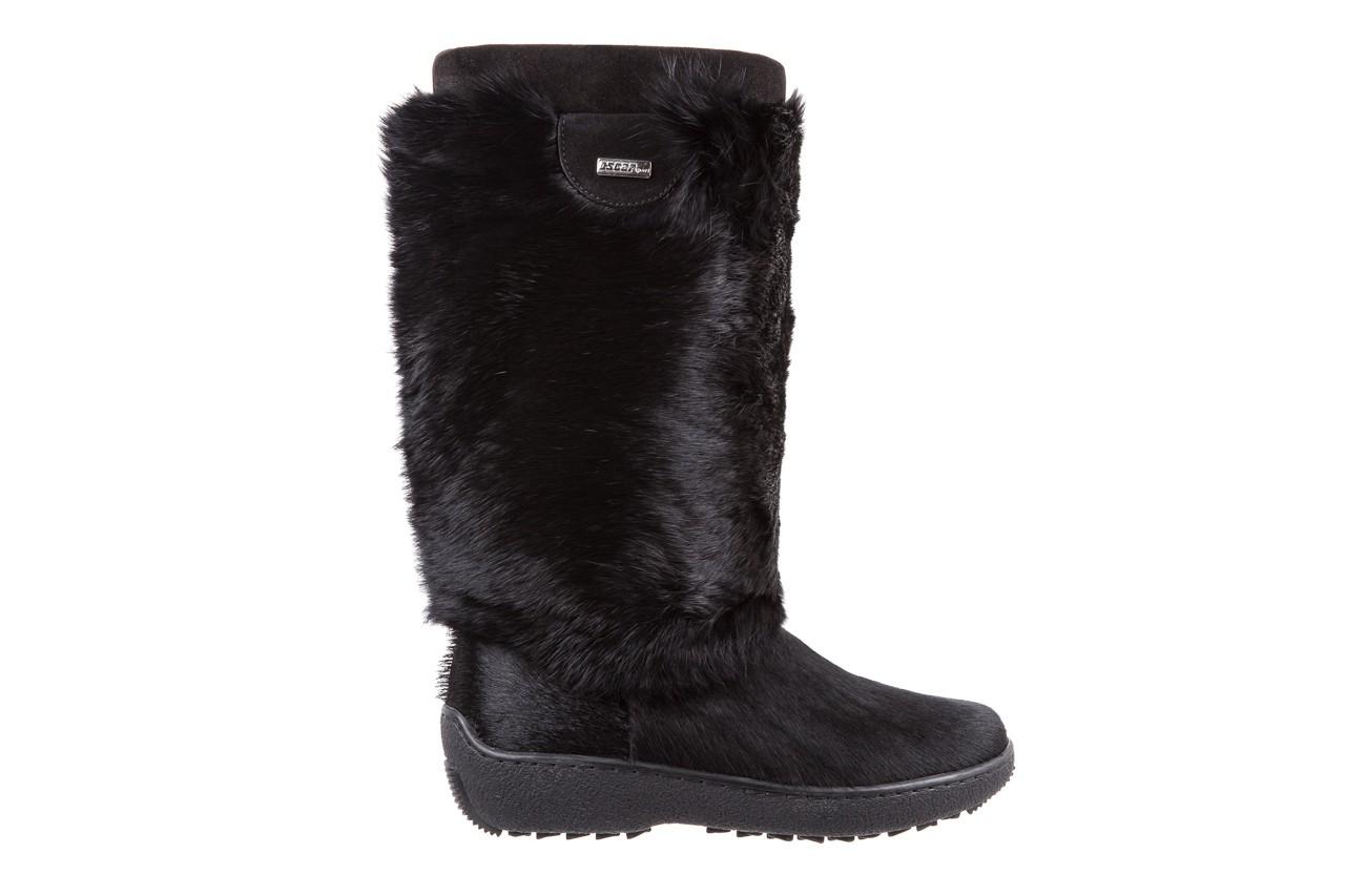 Śniegowce oscar norma l1 black, czarny, futro naturalne  - oscar - nasze marki 6