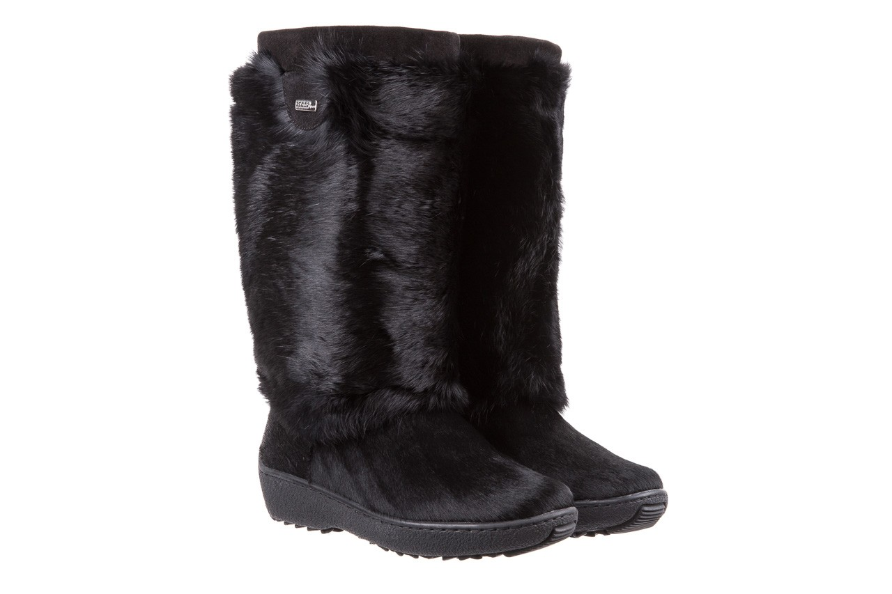 Śniegowce oscar norma l1 black, czarny, futro naturalne  - oscar - nasze marki 7