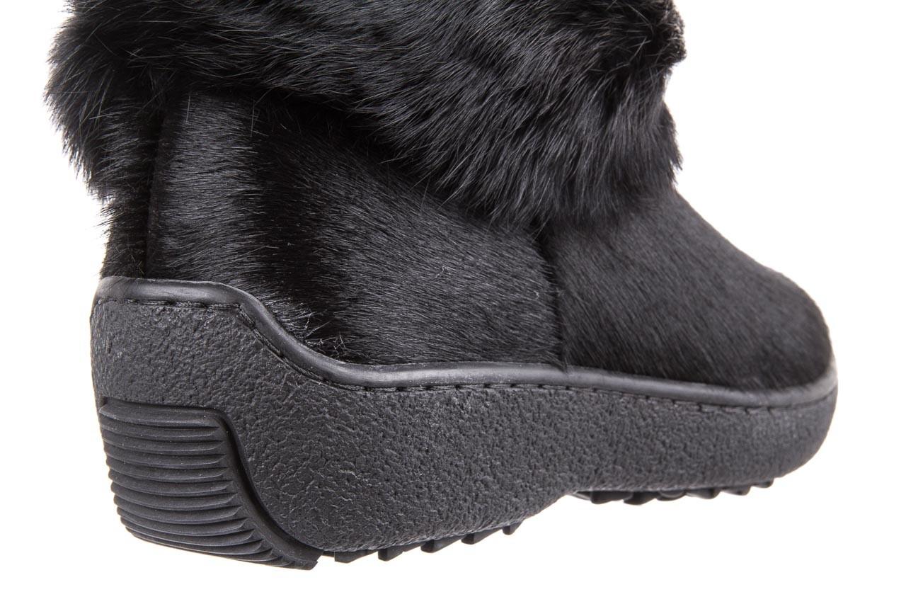 Śniegowce oscar norma l1 black, czarny, futro naturalne  - oscar - nasze marki 10