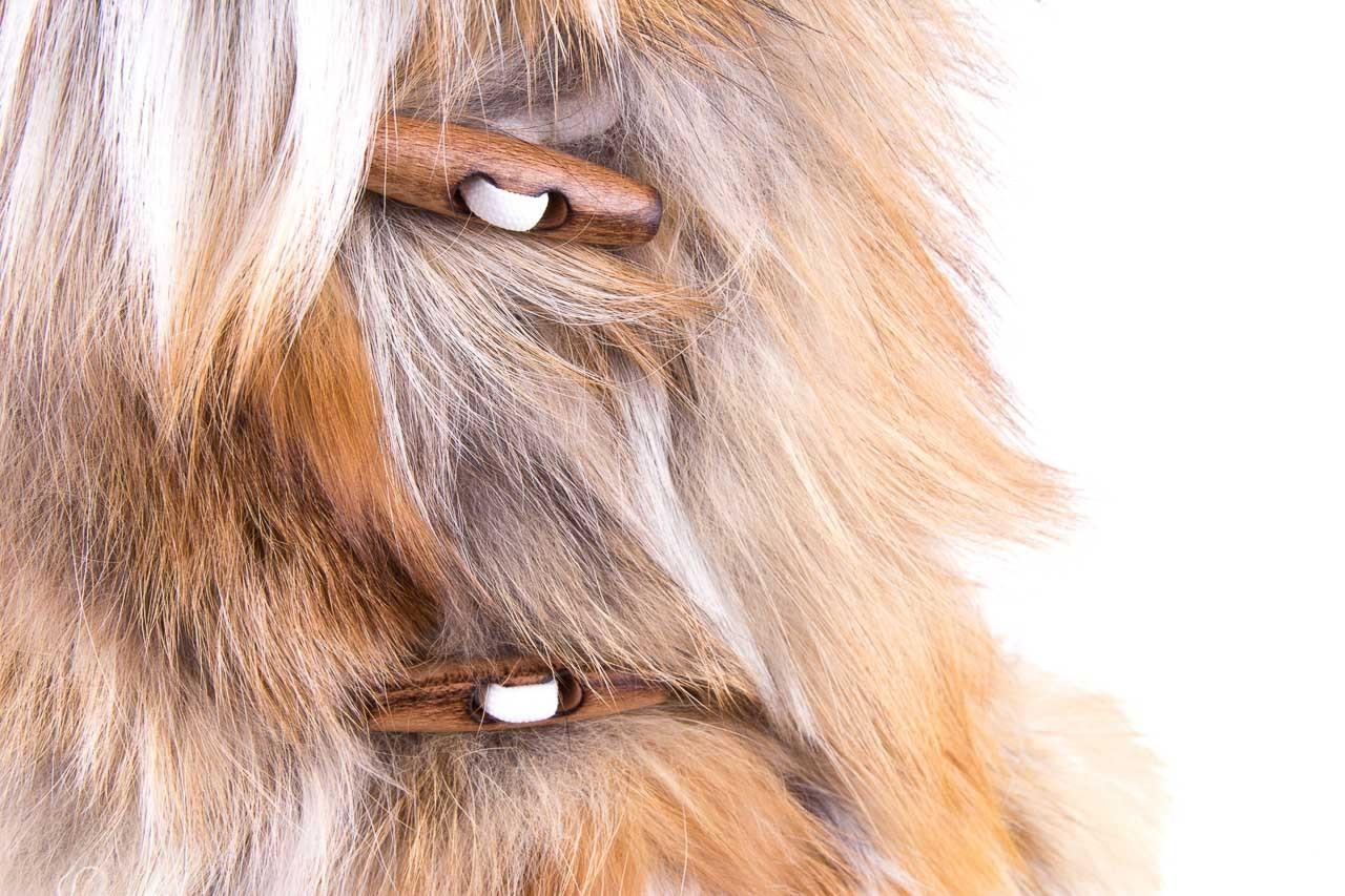 Śniegowce oscar yukon beige red, beż/ biały, futro naturalne  - oscar - nasze marki 11