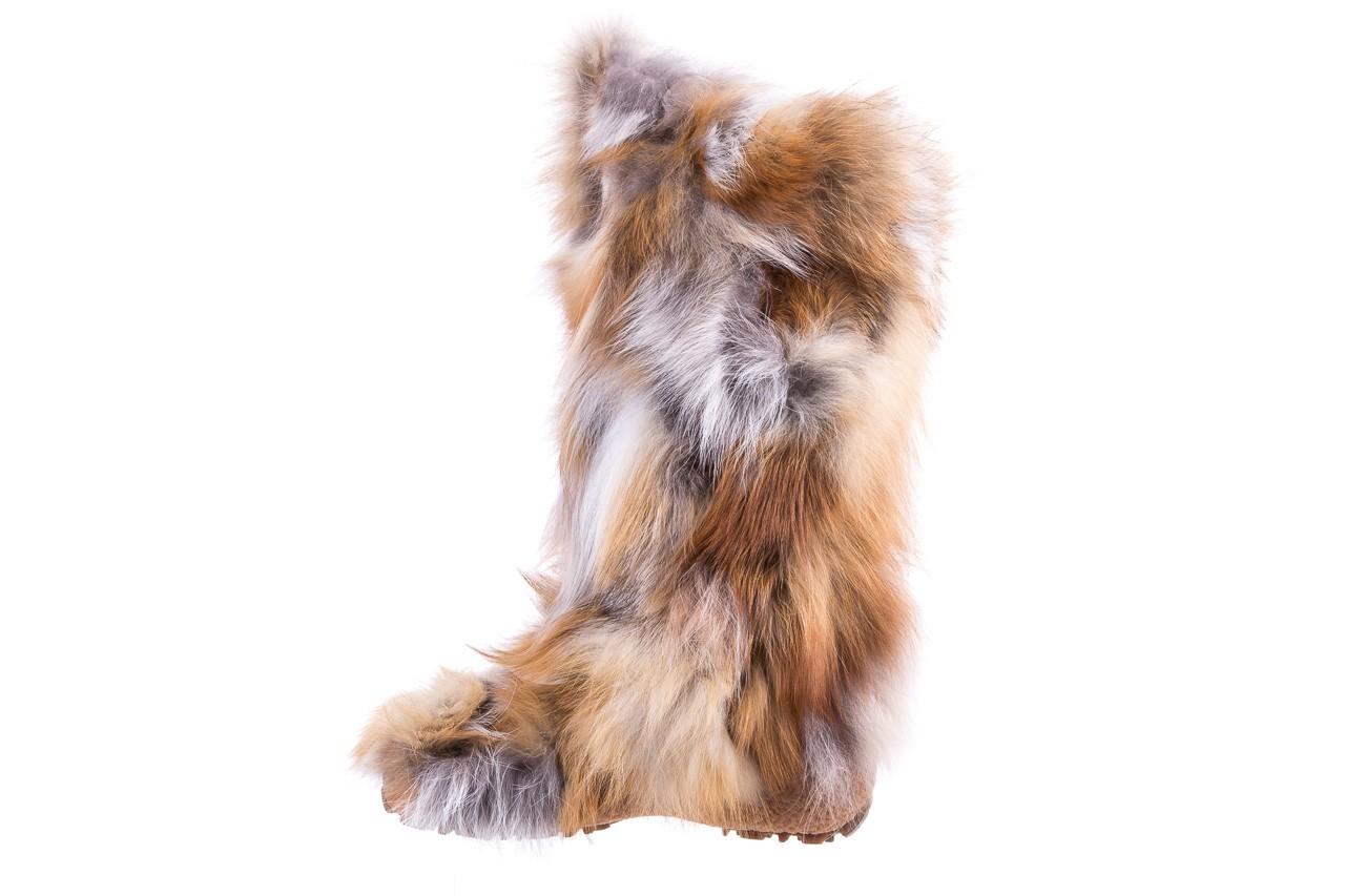 Śniegowce oscar yukon beige red, beż/ biały, futro naturalne  - oscar - nasze marki 8