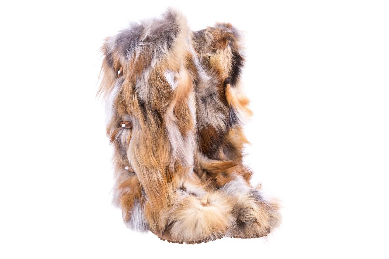 Śniegowce oscar yukon beige red, beż/ biały, futro naturalne  - oscar - nasze marki 7
