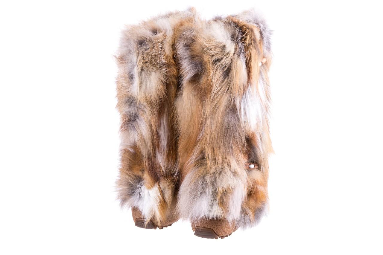 Śniegowce oscar yukon beige red, beż/ biały, futro naturalne  - oscar - nasze marki 9