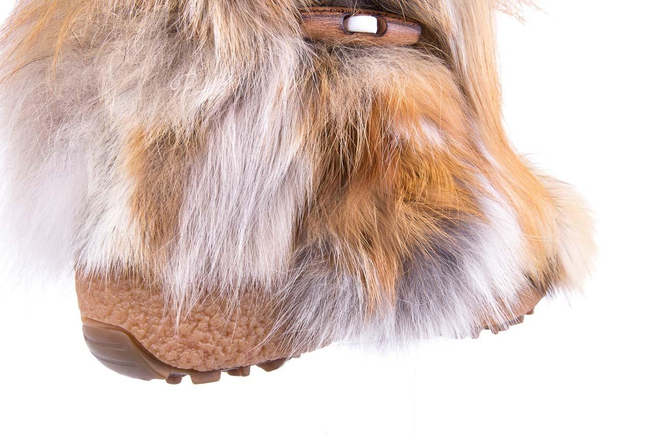 Śniegowce oscar yukon beige red, beż/ biały, futro naturalne  - oscar - nasze marki 10