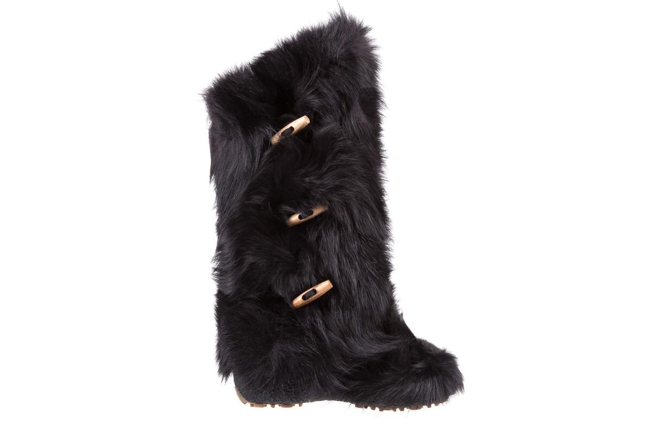 Śniegowce oscar yukon black, czarny, futro naturalne  - oscar - nasze marki 6