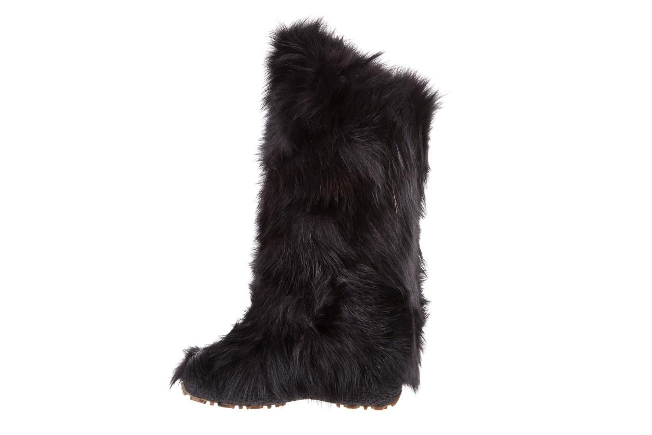 Śniegowce oscar yukon black, czarny, futro naturalne  - oscar - nasze marki 8