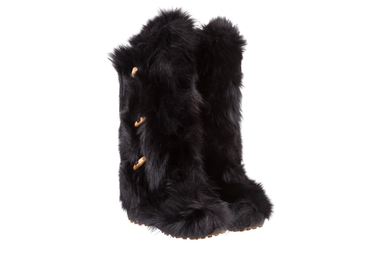 Śniegowce oscar yukon black, czarny, futro naturalne 7