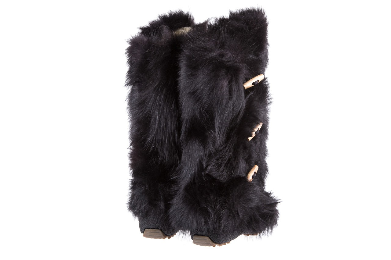 Śniegowce oscar yukon black, czarny, futro naturalne  - oscar - nasze marki 9