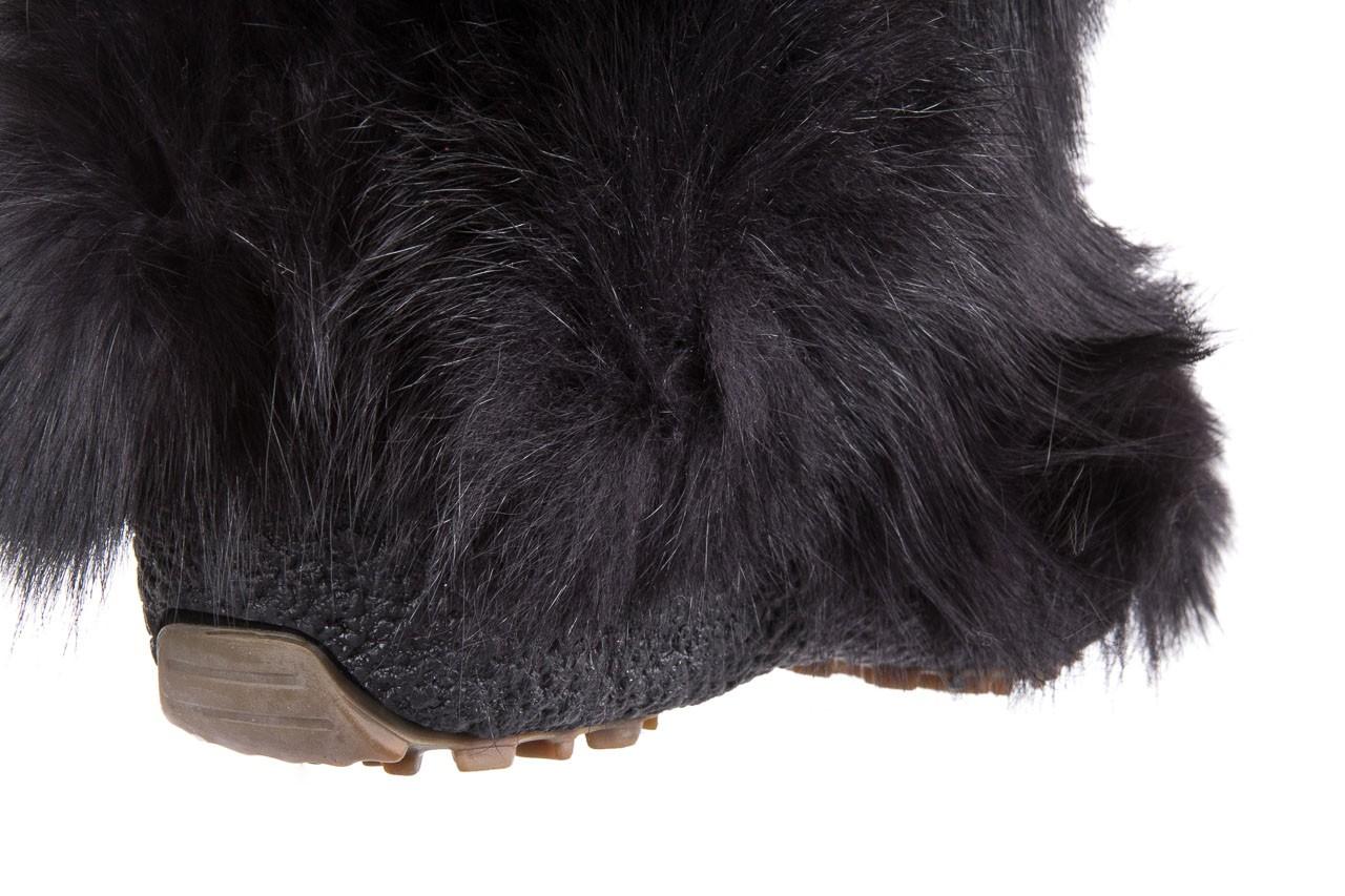 Śniegowce oscar yukon black, czarny, futro naturalne  - oscar - nasze marki 10