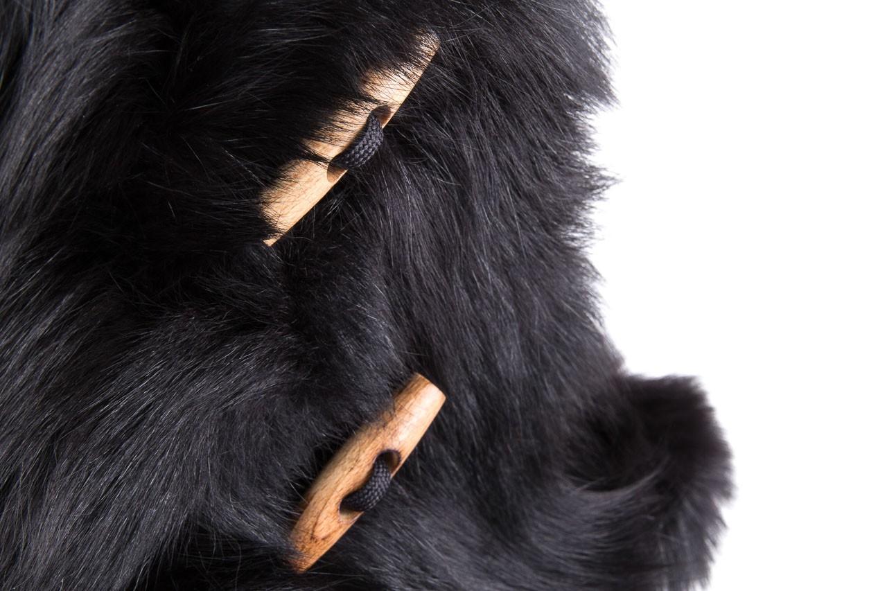 Śniegowce oscar yukon black, czarny, futro naturalne  - oscar - nasze marki 11