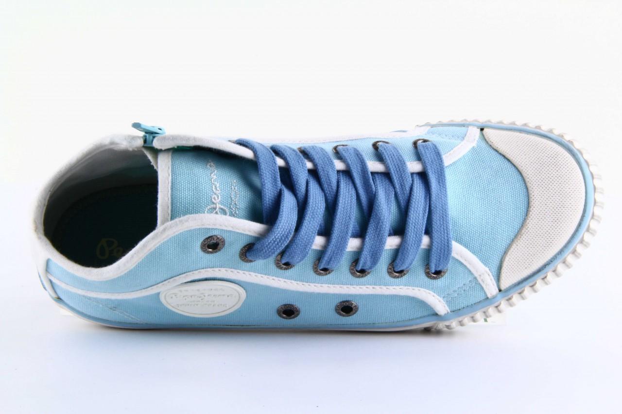Trampki pepe jeans pls30010 507 ice blue, niebieski, materiał - wysokie - trampki - buty damskie - kobieta 11
