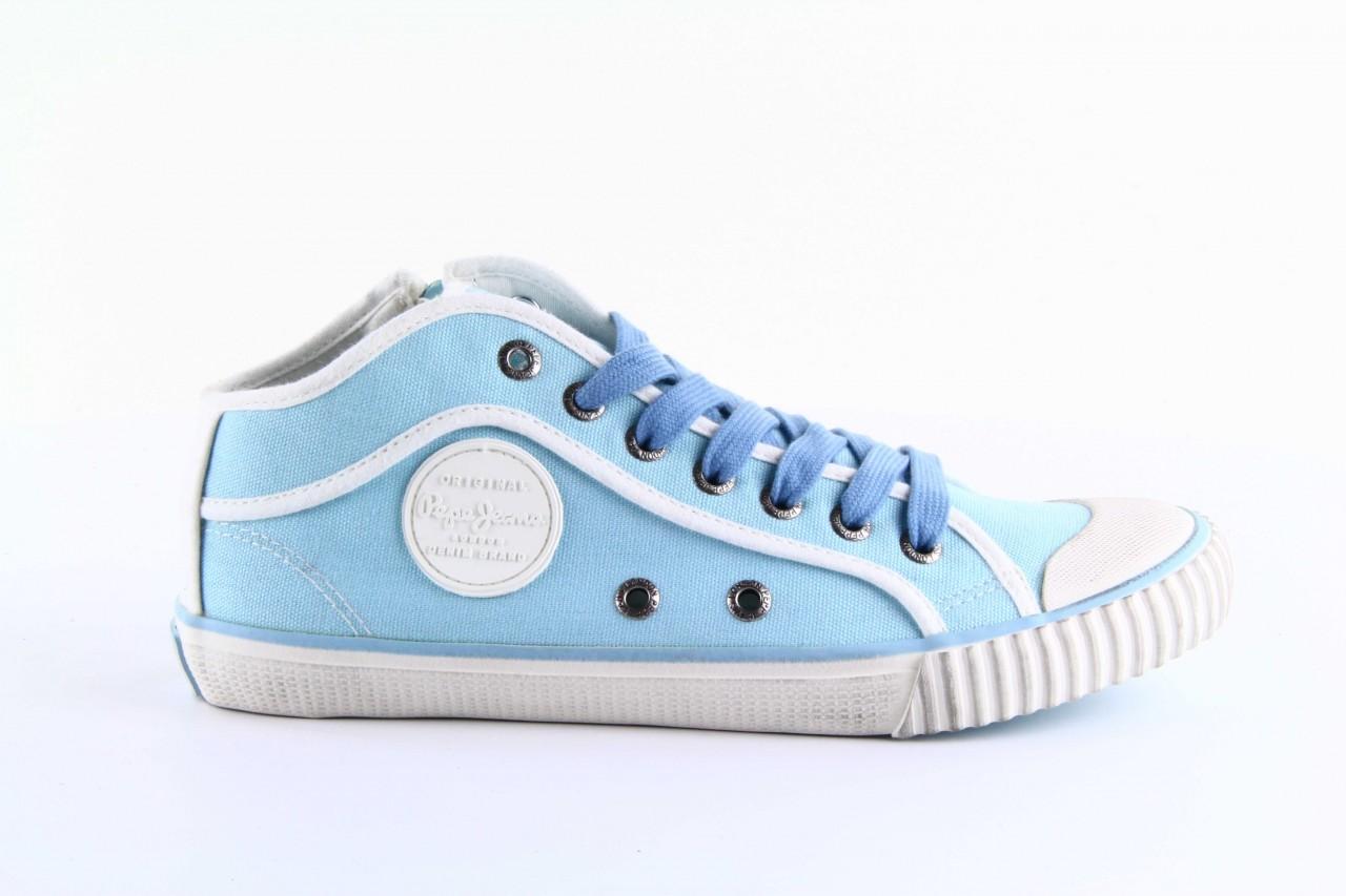Trampki pepe jeans pls30010 507 ice blue, niebieski, materiał - wysokie - trampki - buty damskie - kobieta 6