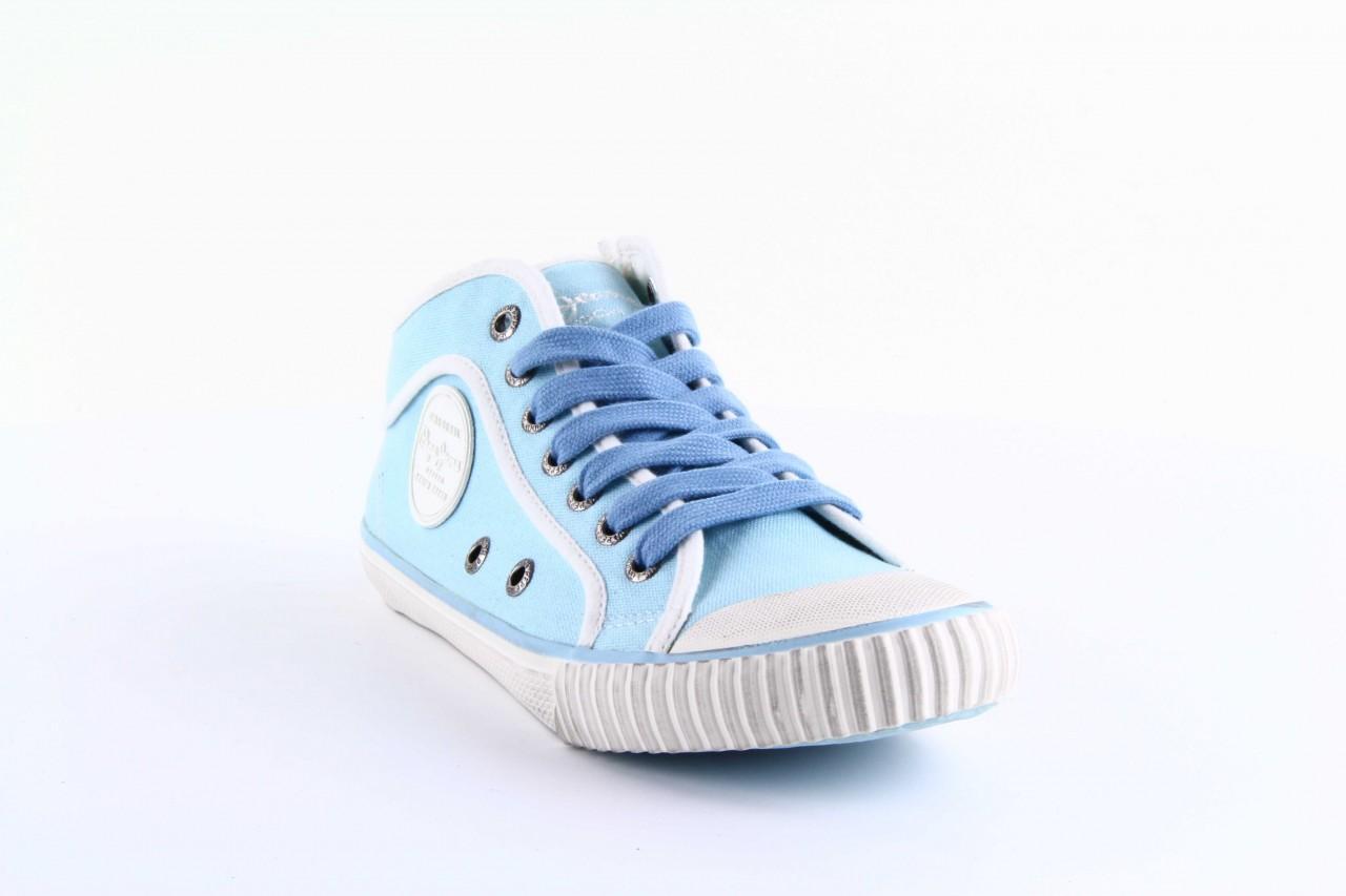 Trampki pepe jeans pls30010 507 ice blue, niebieski, materiał - wysokie - trampki - buty damskie - kobieta 8