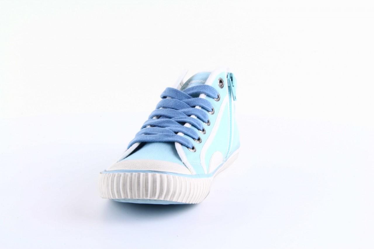Trampki pepe jeans pls30010 507 ice blue, niebieski, materiał - wysokie - trampki - buty damskie - kobieta 9