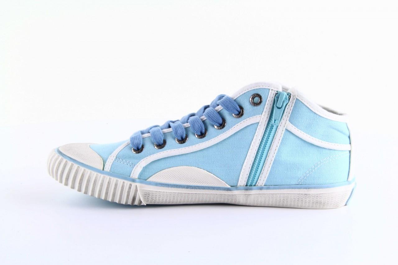 Trampki pepe jeans pls30010 507 ice blue, niebieski, materiał - wysokie - trampki - buty damskie - kobieta 7