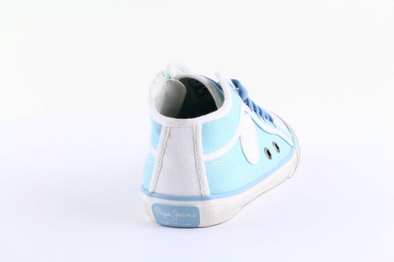 Trampki pepe jeans pls30010 507 ice blue, niebieski, materiał - wysokie - trampki - buty damskie - kobieta 10