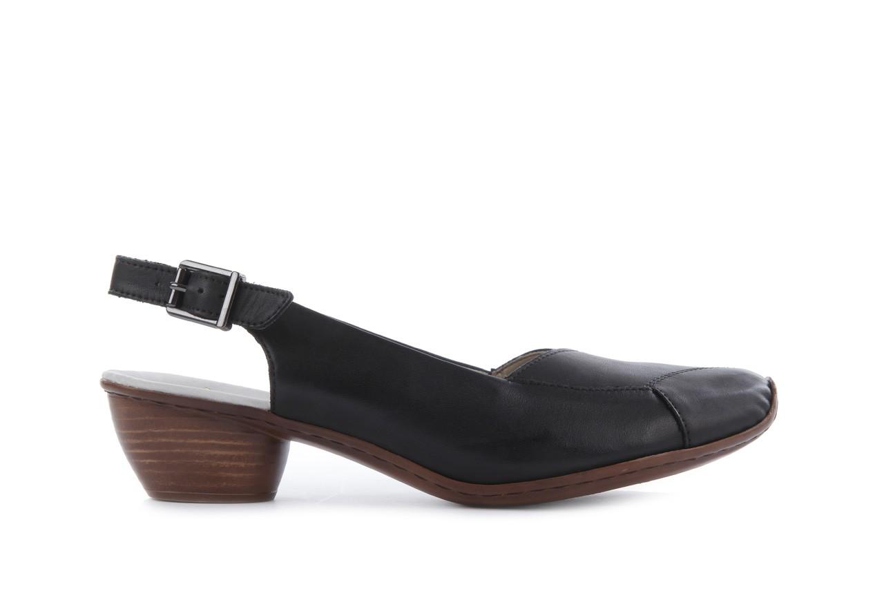 Sandały rieker 43790-00 black, czarny, skóra naturalna 6