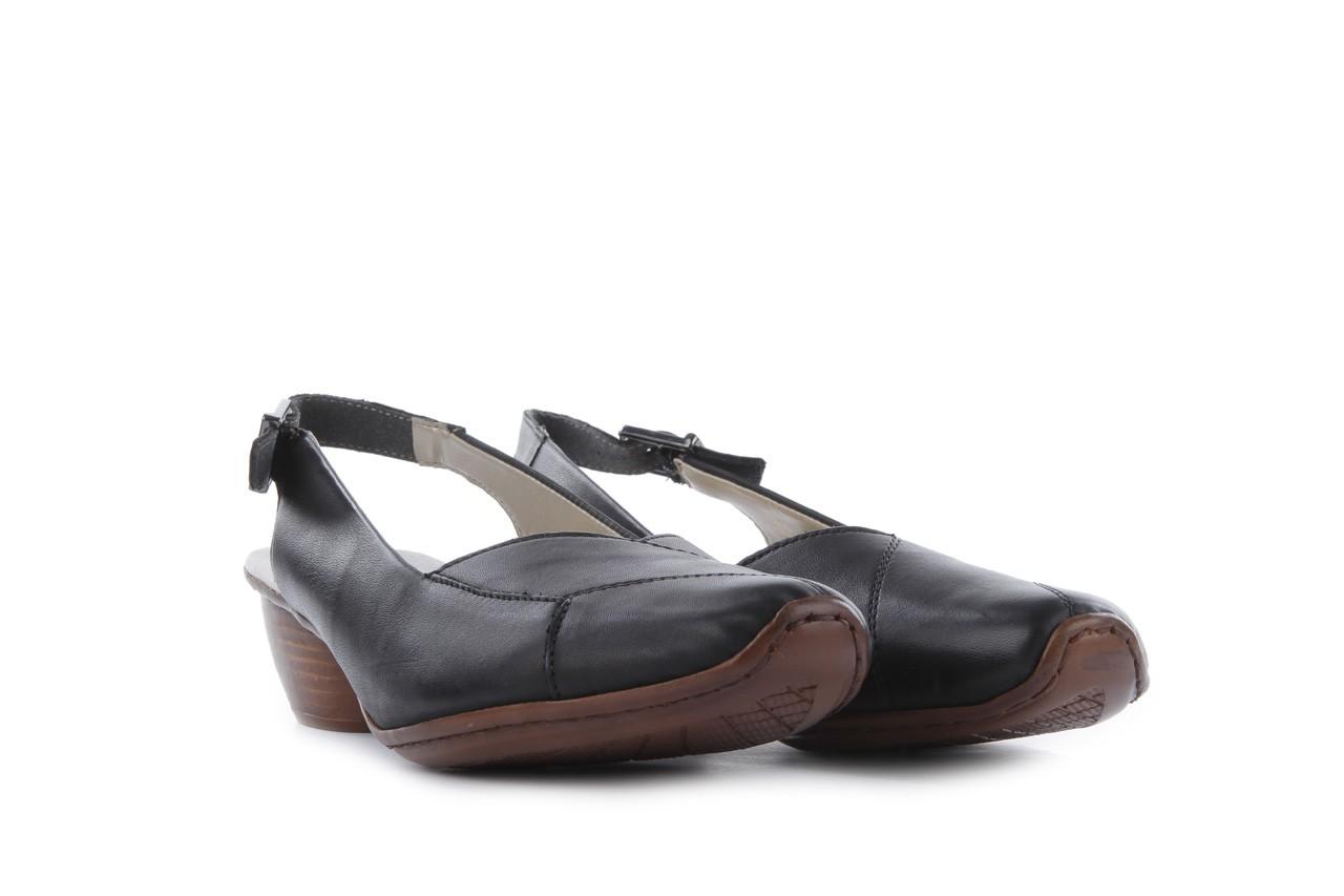 Sandały rieker 43790-00 black, czarny, skóra naturalna 7