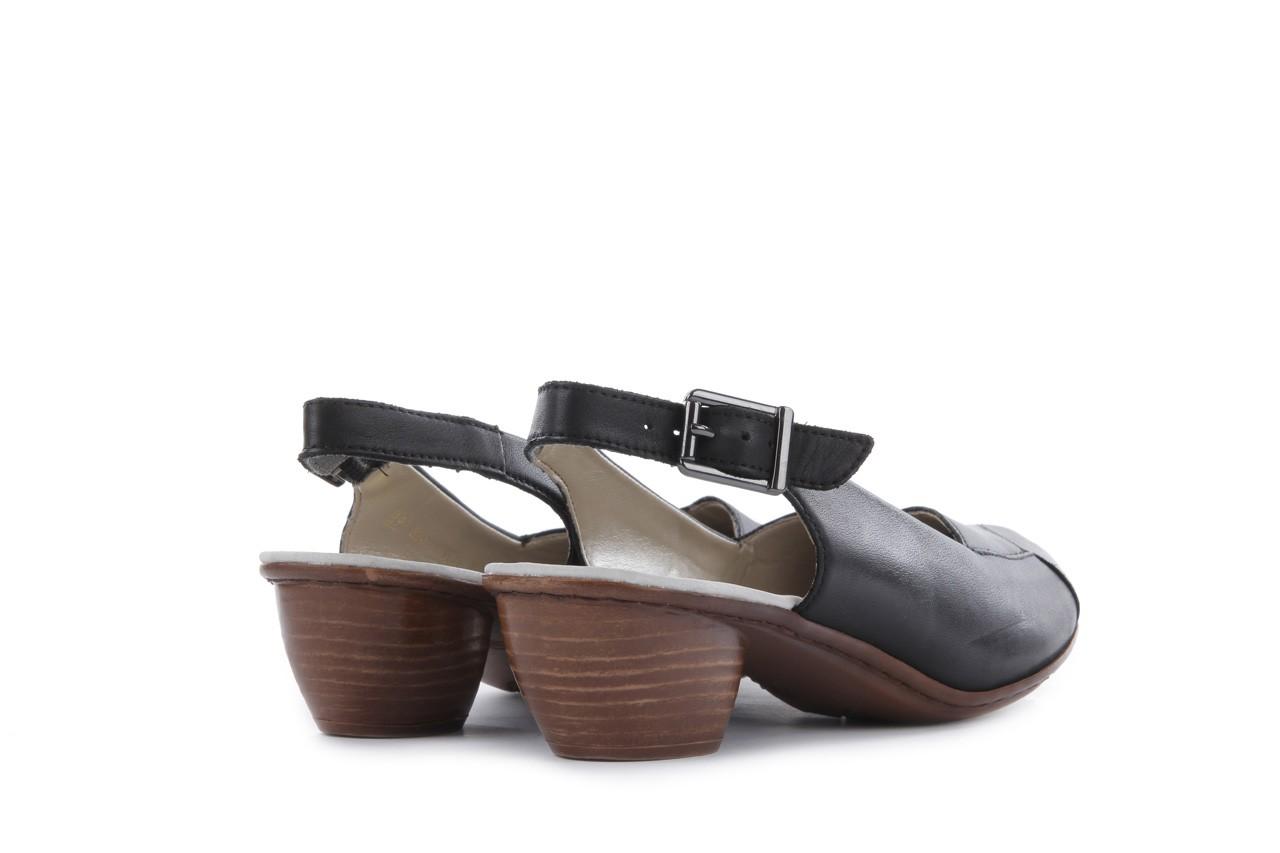 Sandały rieker 43790-00 black, czarny, skóra naturalna 9