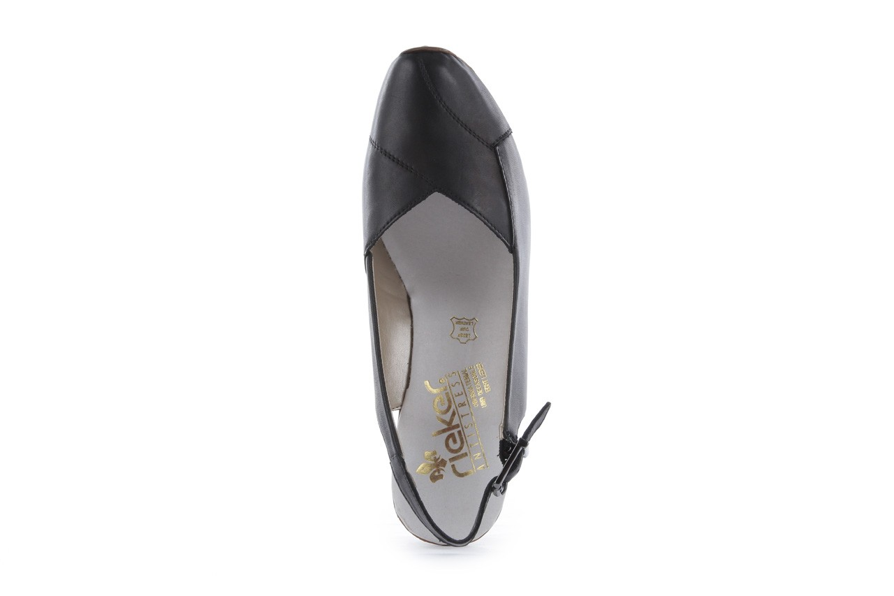 Sandały rieker 43790-00 black, czarny, skóra naturalna 10