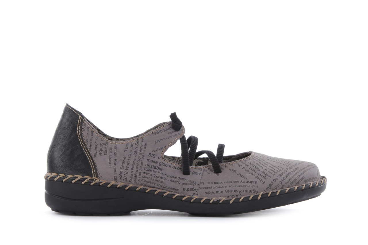 Rieker 49850-40 grey combi 7