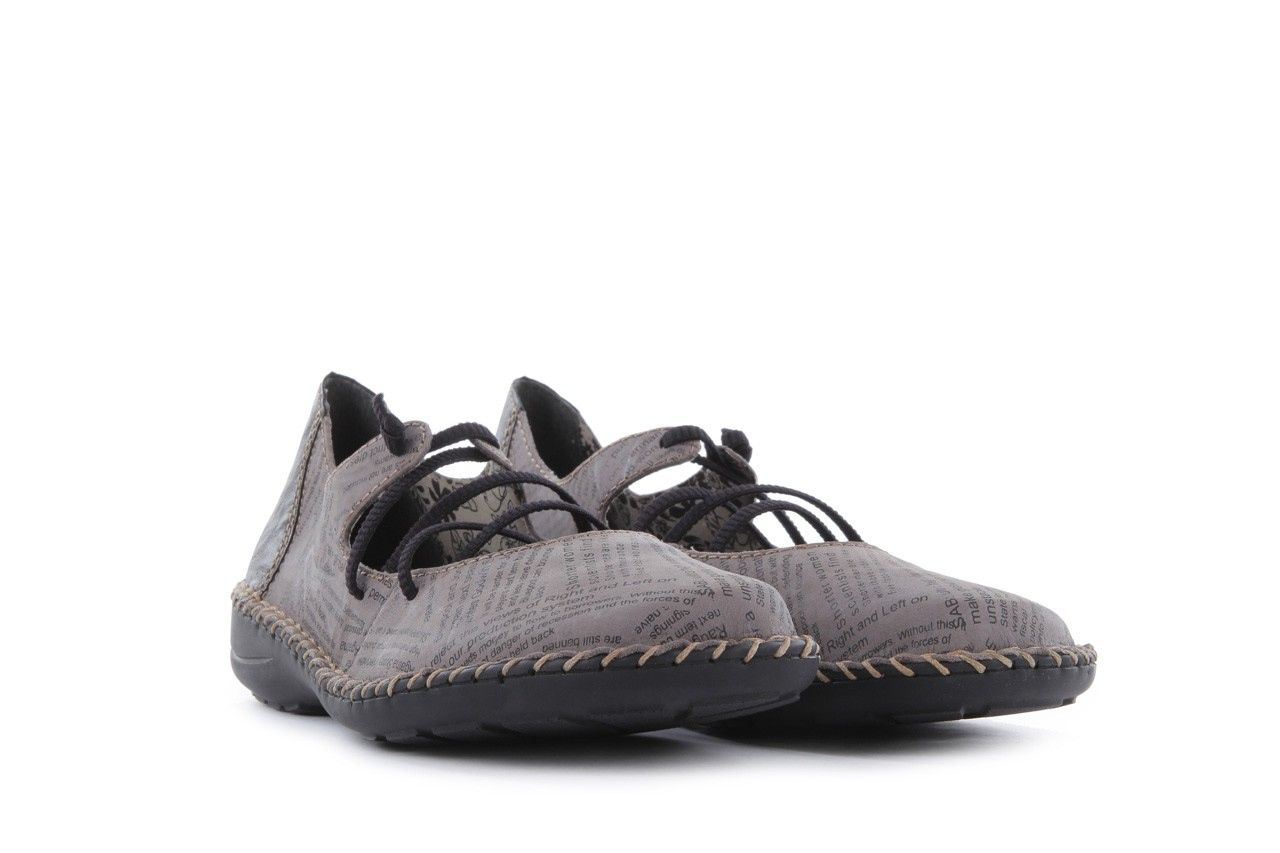 Rieker 49850-40 grey combi 8