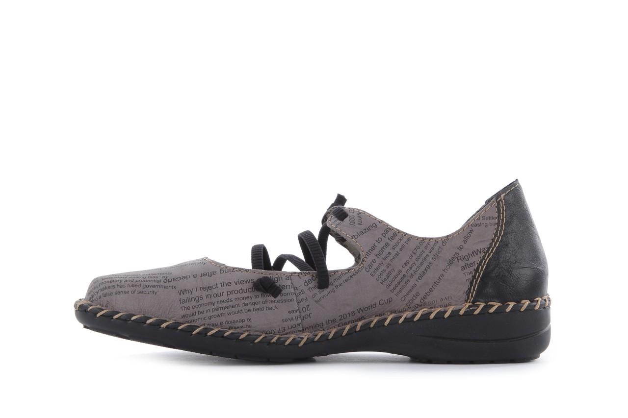 Rieker 49850-40 grey combi 9