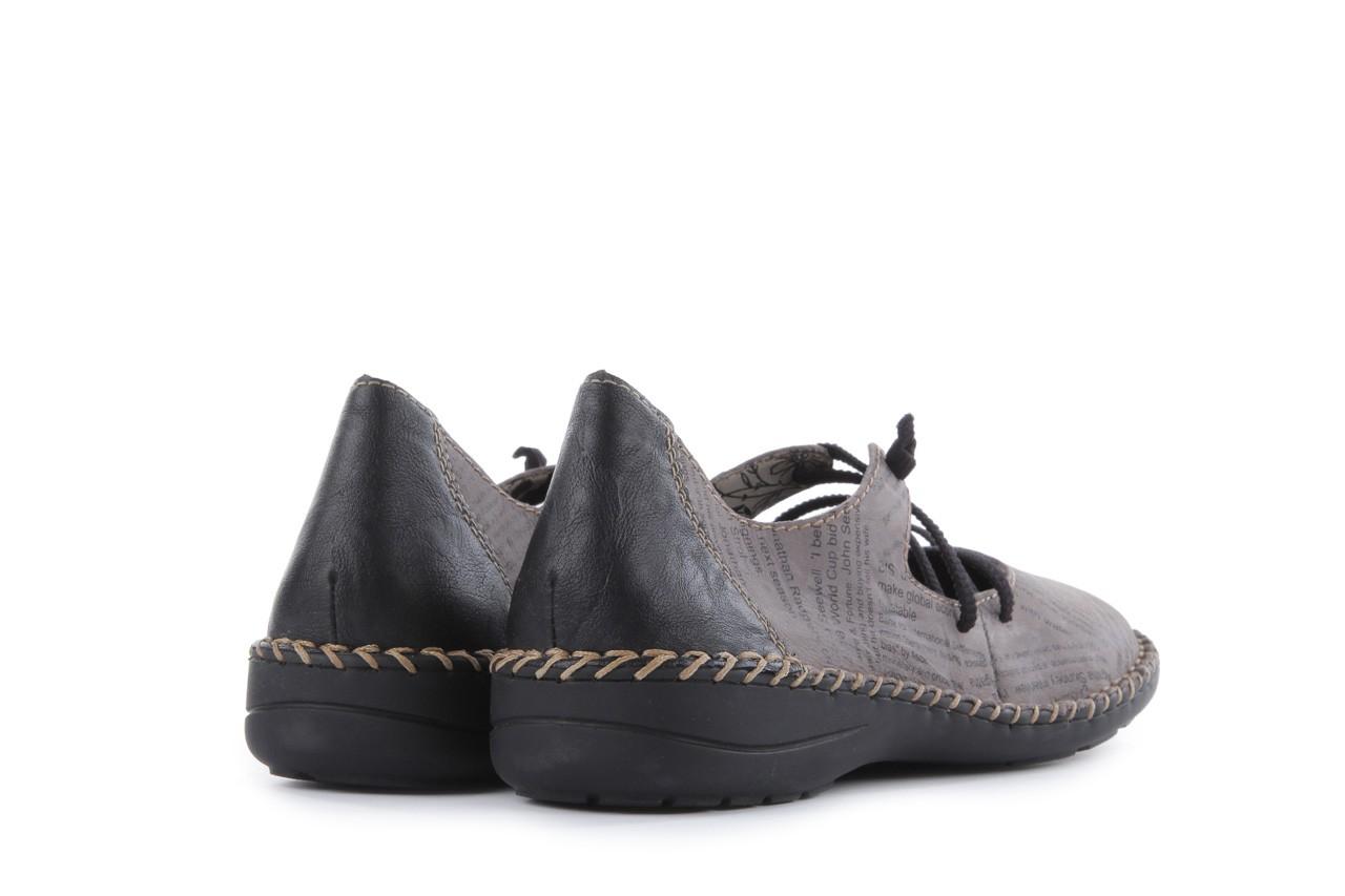 Rieker 49850-40 grey combi 10