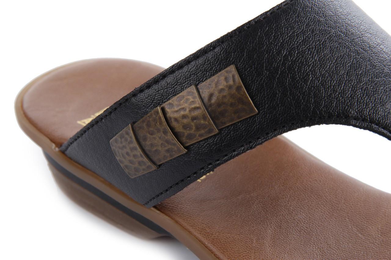 Klapki rieker 63481-01 black, czarny, skóra ekologiczna 11