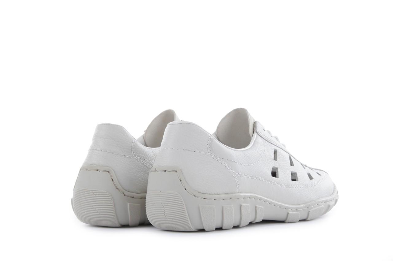 Półbuty rieker l3105-81 white, biały, skóra naturalna 9