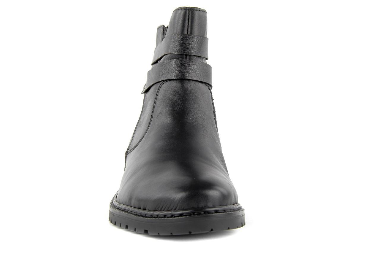 Trzewiki rieker z1953-00 black, czarny, skóra naturalna - nasze marki 9