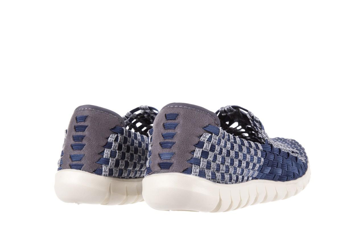 Półbuty rock arbatax washed navy, niebieski, materiał - rock - nasze marki 9
