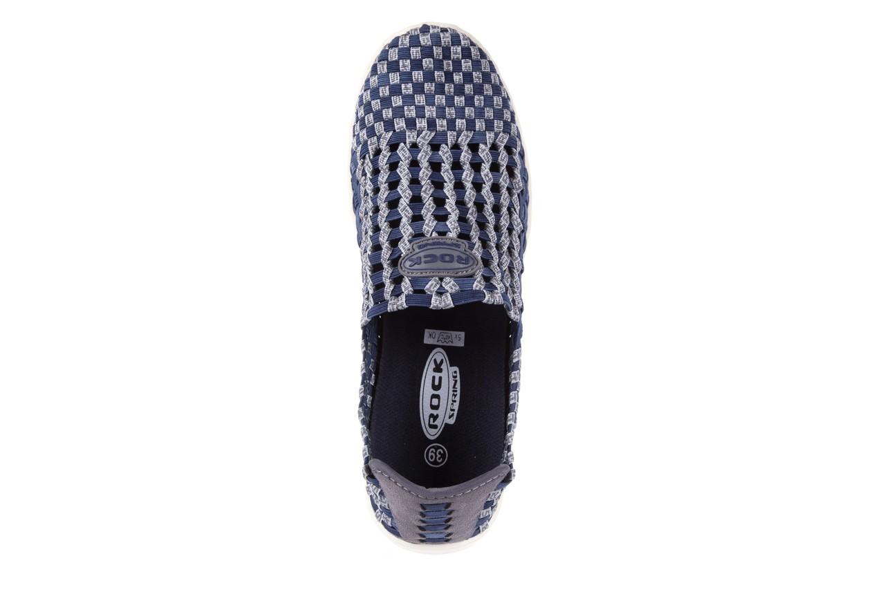 Półbuty rock arbatax washed navy, niebieski, materiał - rock - nasze marki 10