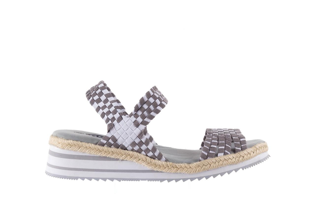Sandały rock balnea white grey, biały/szary, materiał  - koturny - buty damskie - kobieta 6