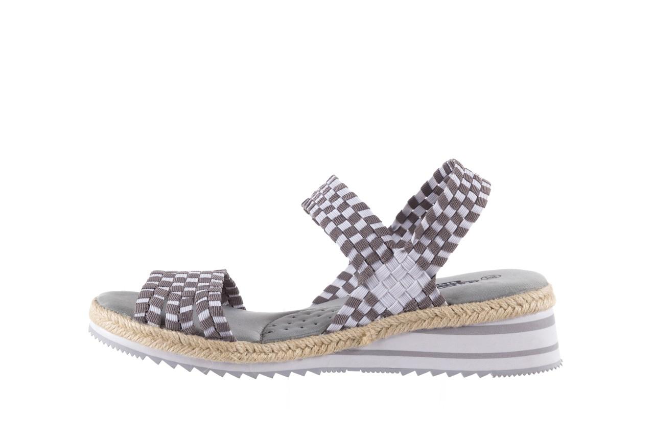 Sandały rock balnea white grey, biały/szary, materiał  - koturny - buty damskie - kobieta 8