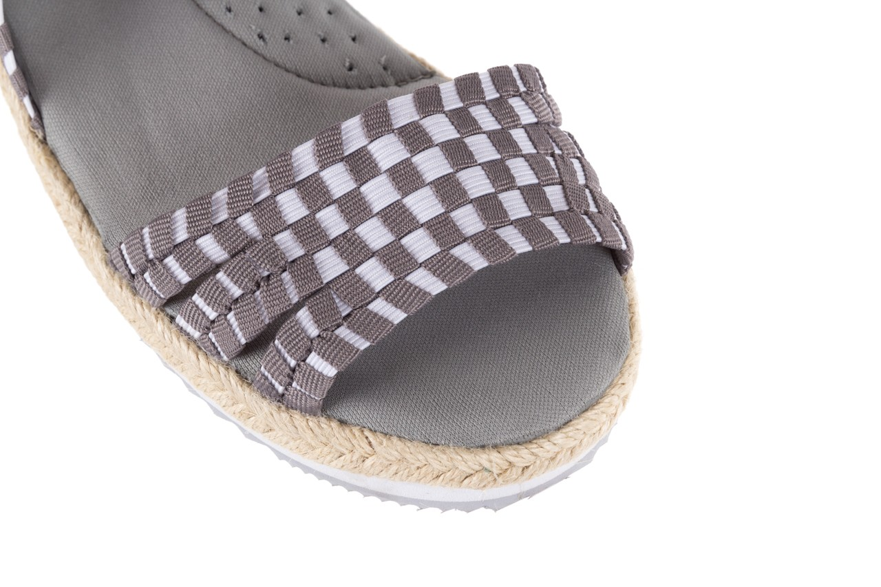 Sandały rock balnea white grey, biały/szary, materiał  - koturny - buty damskie - kobieta 11