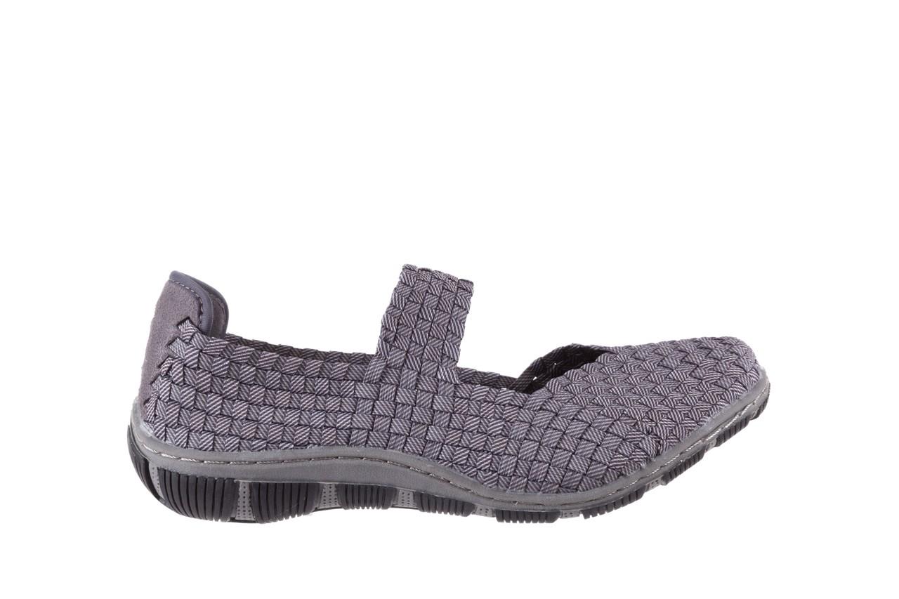 Półbuty rock cape town grey ratan, szary, materiał - obuwie sportowe - buty damskie - kobieta 6