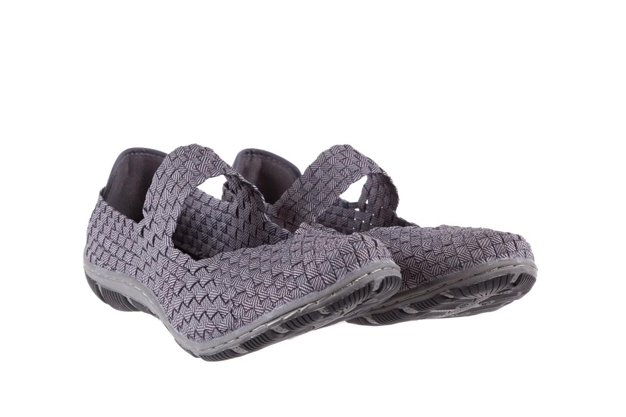 Półbuty rock cape town grey ratan, szary, materiał - obuwie sportowe - buty damskie - kobieta 7