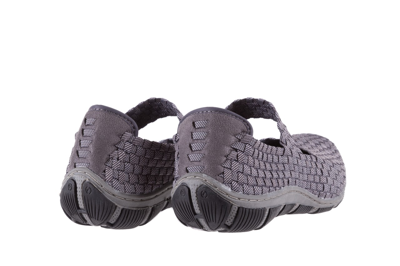 Półbuty rock cape town grey ratan, szary, materiał - obuwie sportowe - buty damskie - kobieta 9